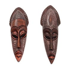 Gambian Metal/Wood Mask $14.95 Amazing mask made from wood and metal. Hand-crafted in Gambia. A-WC987