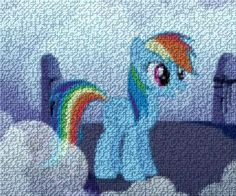 Rainbow Dash mosaic