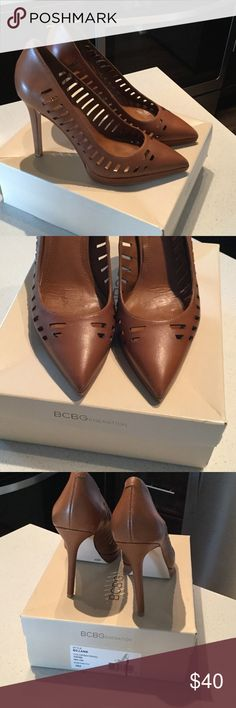 Flash SALE BCBGeneration tan brown cognac pumps Worn only once tan brown cognac camel brown pumps by BCBGENERATION box included BCBGeneration Shoes Heels
