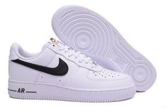 c77d6c02b2d4fe Nike Air Force 1 Low White Black 488298 158 Mens Sneakers Air Force Shoes