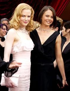 """Nicole Kidman and her sister Antonia  ~ """"No one will ever come between us. We need that love and support from each other, and we're both willing to give it. She's grown up all her life with a sister who's an actress, and she's been a part of it and held me in her arms when I've cried. She's seen the failures and the successes, and I've seen hers."""" When Nicole split from first husband Tom Cruise in February 2001, she took Antonia with her to the premiere of her movie , The Others."""