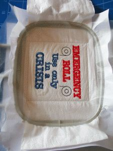How to embroider on Toilet paper rolls