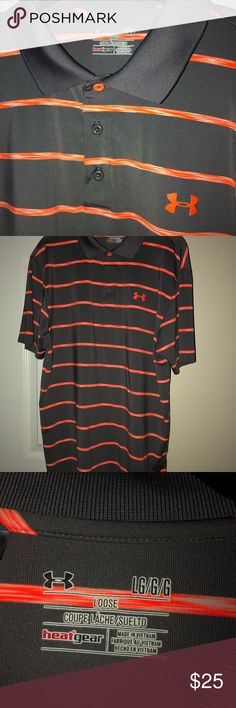Shop Men's Under Armour Gray Orange size L Polos at a discounted price at Poshmark. Striped Polo Shirt, Under Armour Shirts, Man Shop, Best Deals, Mens Tops, Things To Sell, Closet, Women, Gray