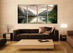 Tracy Arm Fjord Juneau Mountains Photo 3 Panels Print Wall Decor Fine Art Nature Photography Repro Print for Home and Office Wall Decoration by ZellartCo TAGS alaska tracy arm mountain surreal glacier fjord decor landscape nature juneau mountains scenic home decoration wall hangings