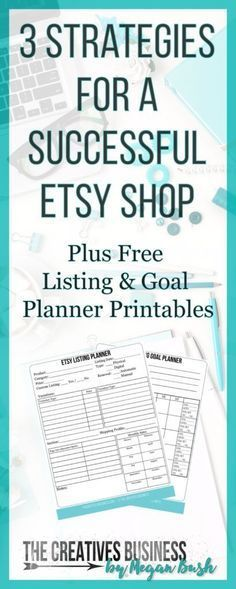 No Etsy store sales? Think you should be doing better? I am here to help you with 3 Strategies for a Successful Etsy Store. I share with you three tweaks you can make to your Etsy shop to get more customers and increase your sales. They work for me and lots of others and can work for you too. Also included are FREE LISTING & GOAL PLANNER Printables in downloadable PDF form you can print and use to help you on your journey. Check it or repin for later at: http://www...