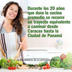 Un dato curioso para celebrar el #DíaDeLaActividadFísica.  #ViveTuCocina  #XEYvenezuela #diseñointerior #cocinas #hogar #decoración #diseñodeinteriores #cocinasmodernas #cocinasespañolas #Lara #Aragua #falcón #Venezuela #AGlobalCompany