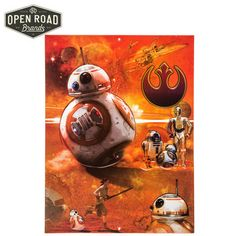 Star Wars The Force Awakens BB-8 Droids Tin Sign⎢Open Road Brands