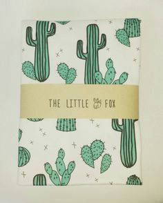 Cactus Baby Blanket Swaddle Wrap Snuggle by TheLittleFoxDesigns