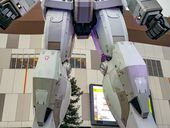 Up close and personal with Tokyo's 59-foot Gundam statue     - CNET   Its even bigger than it looks. Standing in front of it my head tilted back  its huge. Its sci-fi come to life: an 18-meter/59-foot tall  Mobile Suit from the anime series Gundam.   Built initially to celebrate the series 30th anniversary the enormous statue has traveled around a bit.   It now stands guard in front of the  DiverCity mall on the artificial island of Odaiba in Tokyo Bay. It doesnt walk around (sadly) nor…