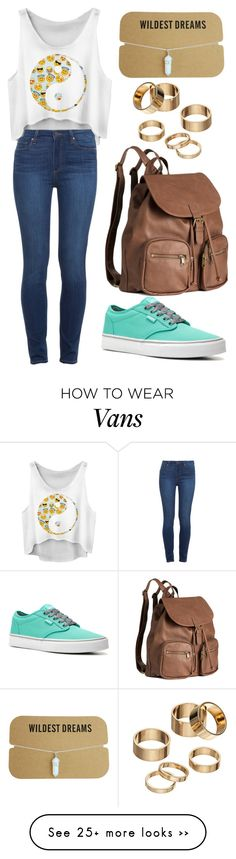 """Untitled #1427"" by little-wrecked-soul on Polyvore featuring Paige Denim, Apt. 9, Vans and H&M"