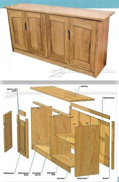 Four Door Sideboard Plans - Furniture Plans and Projects | WoodArchivist.com