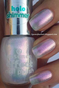 Swatch Essence effect nail polish 01 Pixie dust