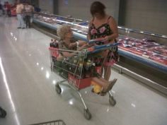 """Grandma in a Walmart Shopping Cart """"Stay Classy People Of Walmart"""" - Funny Pictures at Walmart…god i love walmart people People Of Walmart, Only At Walmart, Funny People, Weird People, Gross People, Real People, Walmart Shopping Cart, Walmart Shoppers, Shopping Carts"""