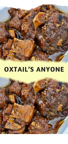 Oxtail Recipes, Crockpot Recipes, Cooking Recipes, Curry Recipes, Salad Recipes, Oxtail Soup, Oxtail Meat, Cooking Oxtails, Homemade Peach Cobbler
