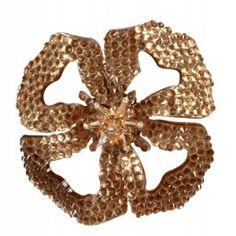 Broche Dublos flor marrón www.sanci.es