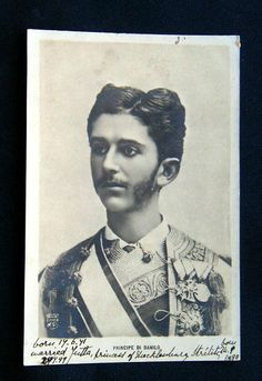 Prince Danilo of Montenegro.  Early 20th century.  As of 2006 Montenegro is again an independent country.  It is located on the Adriatic Sea north of Albania.  Prince Danilo would be proud.