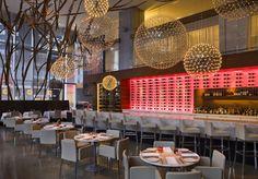 Restaurant Aria. Toronto, Canada  Design: Urszula Tokarska / Stephen R. Pile Architect