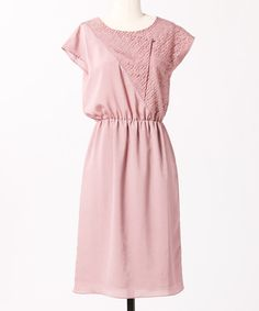 rose lace asymmetrical dress