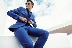 #HouseofFraser #SS16 Ivan Kozak shot by Michael Schwartz #blue #tailoring #suit…