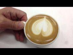 라떼아트 하트만들기 Latte Art Heart - 분당커피학원 - YouTube