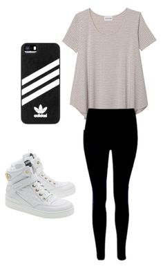 """EVERYDAY"" by rasnakeemma on Polyvore featuring Olive + Oak, Moschino and adidas"