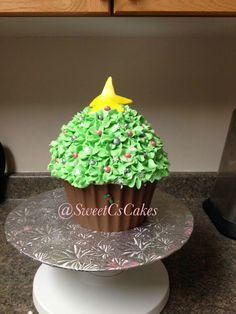 Christmas Themed Large Cupcake