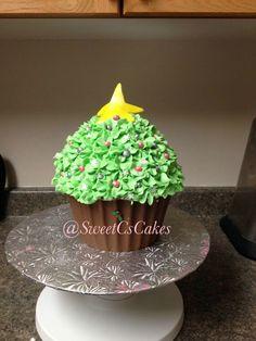 Christmas Themed Large Cupcake