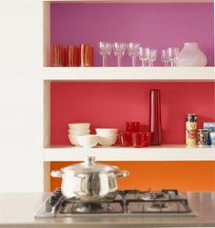Colour Blocking Shelves