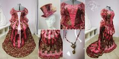 The Rose Carnival Gown by Lillyxandra.deviantart.com on @deviantART