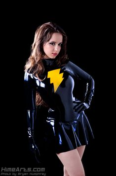 Riddle Cosplay - Latex Mary Marvel Costume #cosplay