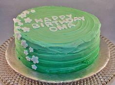 Spring Green Ombre Cake
