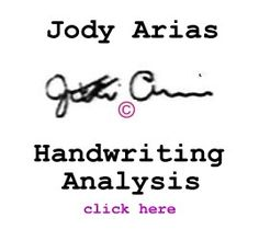 Jody Arias handwriting analysis written opinion of bestselling author Deborah Dolen.