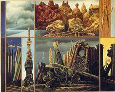 'malen für jung menschen', öl auf leinwand von Max Ernst (1891-1976, Germany)