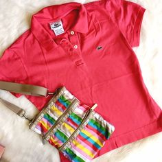 Lacoste Classic Alligator Polo in Pink Great pique piece for preppy fun! No flaws, excellent condition! Lacoste Tops