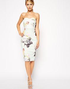 Mint Rose Bandeau Dress