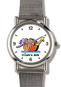 Best Price Noah's Ark No.2 - Biblical Theme - WATCHBUDDY® ELITE Chrome-Plated Metal Alloy Watch with Metal Mesh Strap-Size-Small (  Buy online and save - http://greatcompareshop.com/best-price-noahs-ark-no-2-biblical-theme-watchbuddy-elite-chrome-plated-metal-alloy-watch-with-metal-mesh-strap-size-small-buy-online-and-save