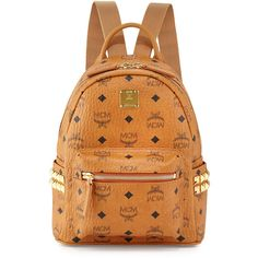 MCM Stark Side Stud Mini Backpack ( 595) ❤ liked on Polyvore featuring bags 96322285a989