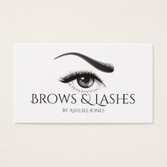 Eyebrows Microblading & Eyelash Extensions Salon Business Card - makeup artist gifts style stylish unique custom stylist