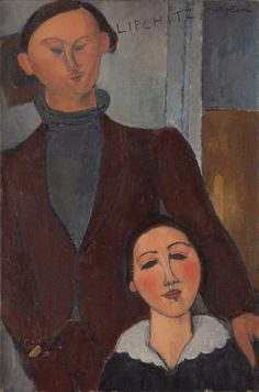 Amedeo Modigliani – Jacques and Berthe Lipchitz, 1916, Oil on canvas, 81.3 x 54.3 cm | The Art Institute of Chicago