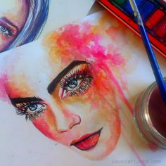 """radahcal: """"luna-ire: """" ivour: """" solacity: """" tyrades: """" flyonvogue: """" savanier: """" something a bit different, cara using watercolours """" """" so pretty """" omg """" self-promo """" Damn """" this is perfect x """""""