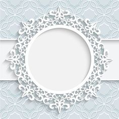 Lace ornament paper frame vector 01 More