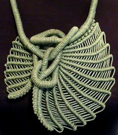 Wow - gorgeous macrame work by Andrea Kamasova - craft central: Benchmark for Jewellery Week 2013