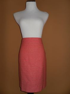 NWT J CREW Women's Factory Pencil Skirt in DOT-DOT-DASH, ORANGE, Size 6 SOLD OUT
