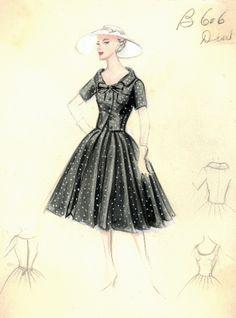 Figurini di moda Dior