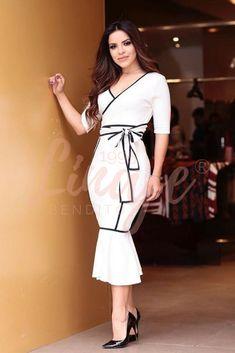 J Lindeberg Womens Golf Clothing Modest Fashion, Fashion Dresses, Cute Dresses, Girls Dresses, Peplum Dress, Bodycon Dress, Best Fashion Designers, Beautiful Evening Gowns, Church Fashion