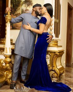 Man Holds His Ladys Backside In Cute Pre-Wedding Photos Latest African Fashion Dresses, African Print Dresses, African Dresses For Women, African Print Fashion, African Attire, African Women, African Prints, African Traditional Wedding, African Traditional Dresses