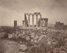 Digitized content from the collections of Cornell University Library Ancient Architecture, Landscape Architecture, Athens Acropolis, Athens Greece, Cornell University, History Of Photography, Carthage, Ancient Greece, Ancient History