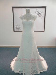 Modest A-line Lace Wedding Dress   Modest Wedding Dress   Vintage Wedding Dress 💟$659.00 from http://www.www.panlace.com   #wedding #dress #aline #mywedding #weddingdress #lace #vintage #bridalgown #modest #bridal