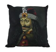 18 Inch Vlad The Impaler Portrait Indoor / Outdoor Throw Pillow Dracula - Zeckos
