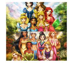 "lovelydisney: "" "" Disney's Princesses by *daekazu (x) "" """